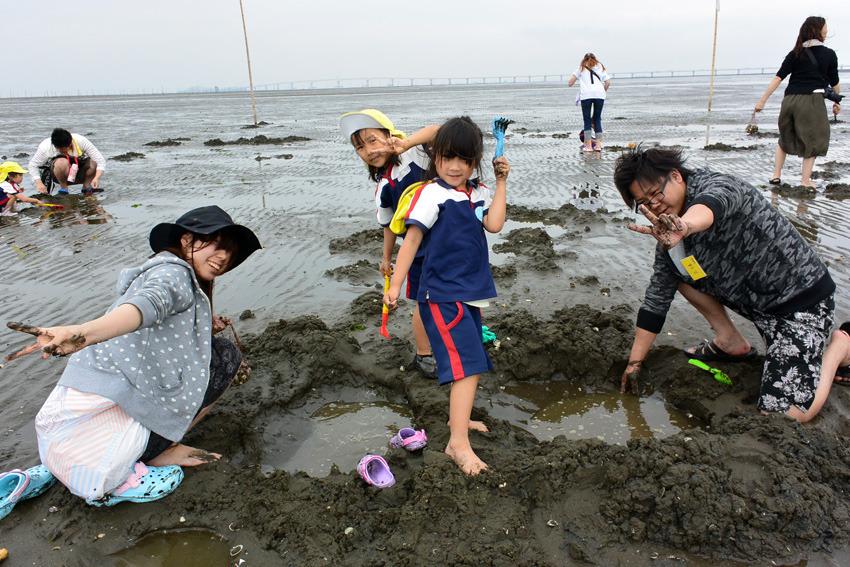 潮干狩り 5歳児親子遠足