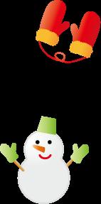 雪だるま・手袋